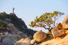 Rocks at Cala Sinzias beach on Sardinia island Stock Photography