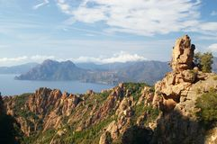 Rocks of Calanche de Piana in Corsica Stock Image