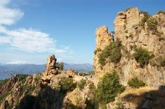 Rocks of Calanche de Piana in Corsica Stock Photography
