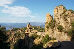 Rocks of Calanche de Piana in Corsica Stock Photos