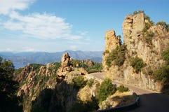 Rocks of Calanche de Piana in Corsica Stock Photos