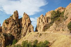 Rocks of Calanche de Piana in Corsica Stock Photo