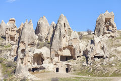 Rocks of Capadocia. View of rocks of Capadocia Stock Image