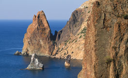 The rocks of Cape Fiolent Stock Image