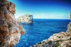 Rocks in Capo Caccia bay Stock Image