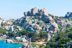 Rocks in Capo Testa Royalty Free Stock Image