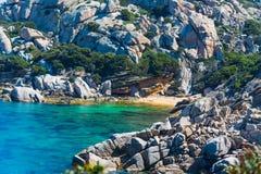 Rocks in Capo Testa shore Stock Image