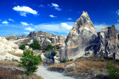 Rocks of Cappadocia. Aweful rocks near Goreme, Cappadocia, Turkey Royalty Free Stock Photos