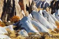 Rocks of Cappadocia in Central Anatolia, Turkey Stock Image