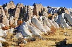 Rocks of Cappadocia in Central Anatolia, Turkey Royalty Free Stock Images