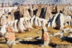 Rocks of Cappadocia in Central Anatolia, Turkey Stock Photography