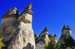 Rocks of Cappadocia in Central Anatolia, Turkey Royalty Free Stock Image