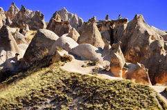 Rocks of Cappadocia in Central Anatolia, Turkey Stock Image