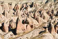 Rocks of Cappadocia in Central Anatolia, Turkey Royalty Free Stock Images