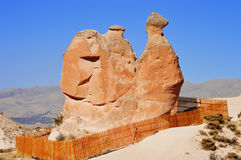 Rocks of Cappadocia in Central Anatolia, Turkey Royalty Free Stock Photo