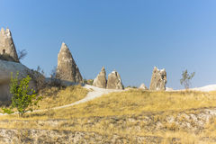 Rocks in Cappadocia Royalty Free Stock Photography