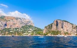 Rocks of Capri island near Marina Piccola beach Stock Photography