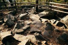 The  rocks of Carpathians Mountain Royalty Free Stock Photo