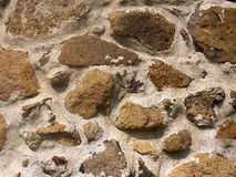 Rocks in Cement Royalty Free Stock Photography