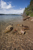 Rocks in clear Coeur d'Alene Lake. Royalty Free Stock Photography