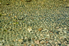Rocks in clear river Stock Photography