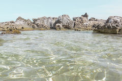 Rocks and Clear water Royalty Free Stock Image