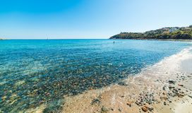 Rocks and clear water in Porto Frailis Stock Image