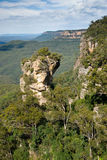 Rocks and cliffs of Blue Mountains Stock Photography