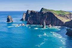 Rocks and cliffs at Cabo sao Lorencio Madeira Portugal Stock Photo
