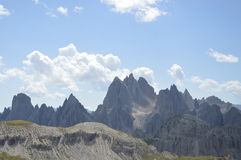 Rocks and cliffs of Dolomiti stock images