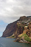 Rocks and cliffs of Ribeira Brava, Madeira Royalty Free Stock Image