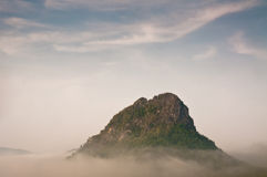 Rocks in the cloud. Thailand Royalty Free Stock Photo