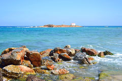 Rocks on the coast of Aegean Sea. Royalty Free Stock Image