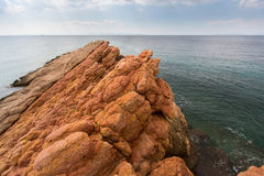 Rocks on the coast of the Aegean sea. Nature. Royalty Free Stock Photos