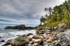 Rocks at the coast of Capurgana Royalty Free Stock Photography