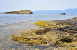 Rocks on the coast of Cretan Sea. Stock Images