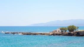 Rocks on the coast of Cretan Sea. Stock Photos