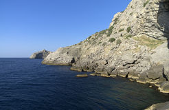 Rocks on the coast. Crimea. Royalty Free Stock Image