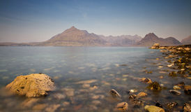 Rocks at the coast of Elgol Royalty Free Stock Images