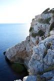 Rocks on the coast on the island. Of Croatia Stock Images