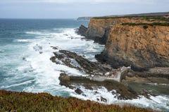 Rocks and coast near beja portugal Royalty Free Stock Photography