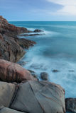 Rocks on the coast near Livorno in Tuscany region Stock Image