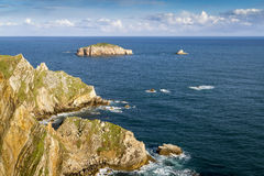 Rocks at the coast of north of  Asturias, Spain. Stock Photo