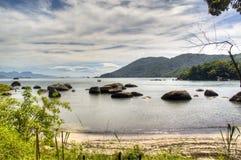 Rocks at the coast. Rocks in the ocean at the coast of Ilha Grande, Brazil Royalty Free Stock Photos