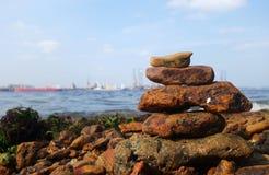 Rocks on the coast of the sea Stock Photography
