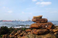 Rocks on the coast of the sea Stock Photo