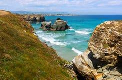 Rocks at  coast  of Spain Royalty Free Stock Photo