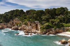 Rocks on the coastline of Cap d'Antibes Stock Photo