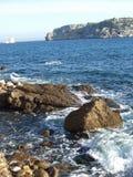 Rocks at Coastline Royalty Free Stock Photography