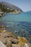 Rocks on the coastline of Lefkes,  Kefalonia,  Greece Stock Photo